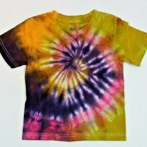 Hand Dyed Tie Dye Tee Cotton Jersey Shirt Kids 4T